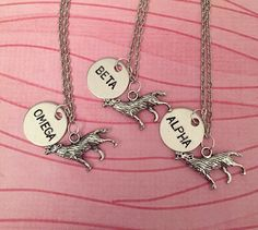 These friendship necklaces for your very own wolf pack.