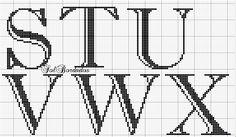 Cross Stitching, Cross Stitch Embroidery, Cross Stitch Alphabet Patterns, Stitch Cartoon, Xmas Stockings, Alphabet And Numbers, Sewing, Monograms, C2c