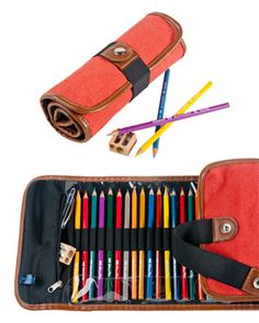 Global Art Canvas Roll-up Pencil Cases