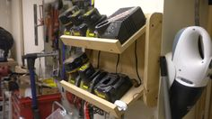 Power tool charging station What's on your walls? Neat storage ideas! - Page 12 - The Garage Journal Board