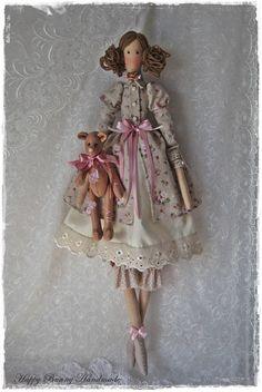 Tilda doll Textile doll Tilda doll and Teddy bear Home decor