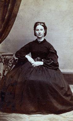 A Bit Like Scarlett O'Hara, Unmarked Carte de Visite, Circa 1862. Copyright Ann Longmore-Etheridge Collection.