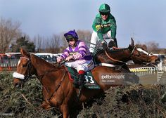Mumbles Head ridden by Jamie Moore (L) and Roberto Goldback ridden by Barry Geraghty refuse the last fence during the John Smiths Grand National at Aintree Racecourse on April 2013 in Liverpool, England. Horse Racing Books, Liverpool England, John Smith, Grand National, Blue Eyes, Fence, Horses, Pictures, Image