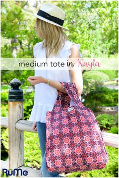 The Medium reusable tote is RuMe's most popular product. I love taking this bag to the park to hold my blanket, books, snacks, and drinks.