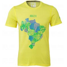 adidas Mens Brazil Host Cites Map T-Shirt #adidas #World Cup #2014 #Brazil #Soccer #SoccerSavings.com