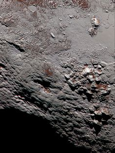 highest-resolution color view of one of two potential cryovolcanoes spotted on the surface of Pluto by the New Horizons