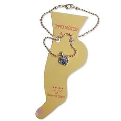 WeddingDepot.com ~ Anklet - Blue Heart ~ You've searched for just the right shoes for your wedding day which means that you know how important your feet are to your entire look, so an anklet is yet another way to accentuate your look.