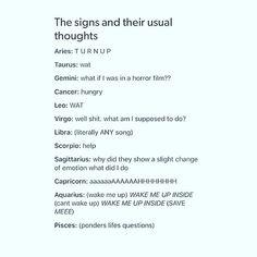 Hahaha its funny cuz my bf and I always say \'wat WAT\' as an inside joke (taurus + leo)