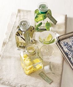 {Gifts from the kitchen}How to make infused vodka via Real Simple