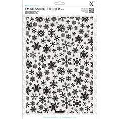 DoCrafts Xcut A4 Embossing Folder Snowflake Pattern