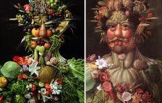 Juxtapoz Magazine - Portraits Made From Food, Plants and other Organics by Klaus Enrique