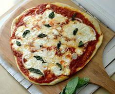 Lasagna pizza recipe. The dough looks pretty easy on this.