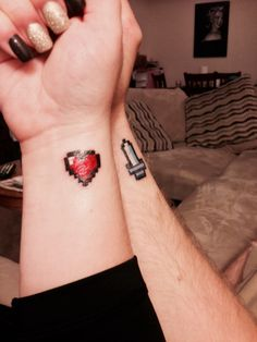 Couple tattoo: Zelda Heart and Sword