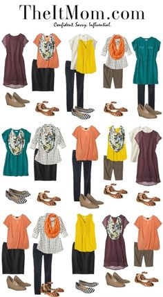 Needing to update your wardrobe or pack light for a vacay? Get several outfits out of just a few pieces!