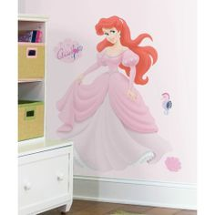 New Giant ARIEL WALL DECALS Disney Princess Stickers Little Mermaid Decor Gifts
