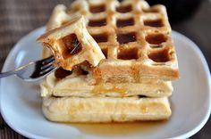 The fluffiest, lightest waffles made with a yeasted batter that rests overnight. These are the best waffles ever!