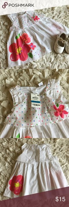 """Summer dress Adorable floral print dress. NWT.   🍭🍬25% off all kids bundles!!🍬🍭 Click """"ADD TO BUNDLE"""" button on all the items you are interested in.  Make offer for 25% less on the bundle and I will ACCEPT! First Impressions Dresses Casual"""