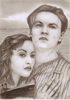 I miei disegni : Titanic Jack e Rose (2015)