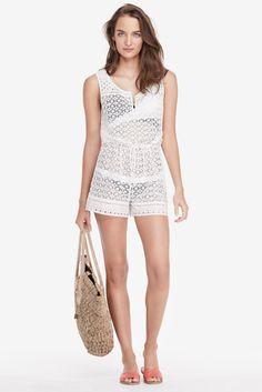 DVF Hamptons Cotton Lace Romper