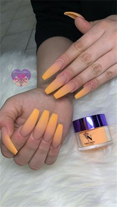 Unique Matte Ombre Coffin Nails Art Designs In Summer - Nail Art Connect Aycrlic Nails, Dope Nails, Coffin Nails, Faded Nails, Perfect Nails, Gorgeous Nails, Pretty Nails, Baby Boomer, Thanksgiving Nails
