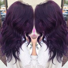 Reddish Purple Hair Dye - Reddish Purple Hair Dye , Henna Plus Long Lasting Colour Red Violet Brown 4 67 Natural Plum Violet Hair, Reddish Purple Hair, Violet Hair Colors, Hair Color Purple, Dark Plum Brown Hair, Curly Purple Hair, Red Purple, Dark Red, Black Hair