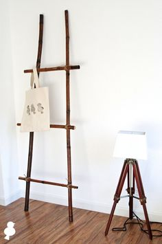 25 Fun DIY Projects to Make You Smile...diy bamboo ladder with twine!