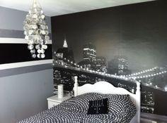 new chambre-ado-new-york-520   william   Pinterest   Bedrooms, Room ...