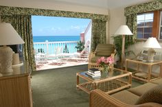 June stay: Pompano beach Club, living room views. #stayBermuda