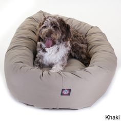 Luxurious Bagel Style Donut Plush Pet Dog Bed - Overstock™ Shopping - The Best Prices on Majestic Pet Products Other Pet Beds