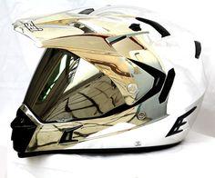 Masei 311 Motocross ATV DOT Dirtbike Helmet CHROME SILVER L XL