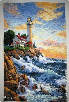This Is  Stunning! ~ Gold Collection Rocky Point ~ Counted Cross Stitch Kit-11 X17