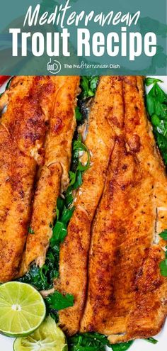 For the ultimate fish fry, try this easy, flavor-packed trout recipe! Trout fillet coated in a Mediterranean spice mixture and quickly seared in olive oil. Ready in just over 15 minutes. Pan Seared Trout Recipe, Rainbow Trout Recipe Pan Fried, Trout Fillet Recipes, Rainbow Trout Recipes, Baked Trout Fillet, Sea Trout Recipes, Seafood Dishes, Seafood Recipes, Italia