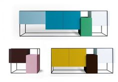 Framed Sideboard/Cabinets by Koenraad Ruys for Moca