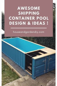 12 Ideas shipping container pool house backyards for 30 Awesome Shipping Container Pool Design & Ideas . Shipping Container Swimming Pool, Diy Swimming Pool, Diy Pool, Small Backyard Pools, Shipping Container Homes, Shipping Containers, Backyard Ideas, Garden Ideas, Small Pools