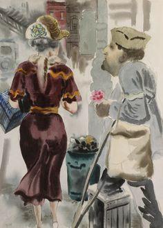 George Grosz (German, American 1893–1959) [Dada, Neue Sachlichkeit]  Remember Me? Remember '18?, c.1933.