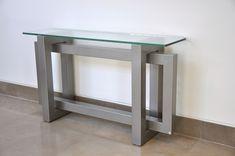 Mesa consola / moderna / de cristal / de acero inoxidable THASOS GONZALO DE SALAS