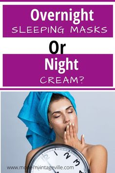 Sleeping masks are applied before bed time. They contain concentrated ingredients that will boost your skin's hydration and nourishment, erase wrinkles and age spots. Find out how sleeping mask is different from night cream. What Is Sleep, Overnight Mask, What To Use, Homemade Cosmetics, Love Your Skin, Homemade Face Masks, Anti Aging Tips, Diy Skin Care, Sleep Mask