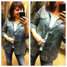long military jacket that is so cute!