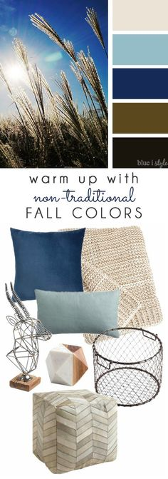 FEELING BLUE THIS FALL? Simply by swapping out a few pillows, blankets, and accessories, you can change up your seasonal decor without spending a lot of money! Tons of great options from World Market! #fallhomerefresh #worldmarkettribe #ad