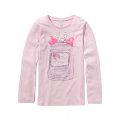 T-shirt in jersey, manica lunga girocollo con stampa frontale.3096C1100 pink