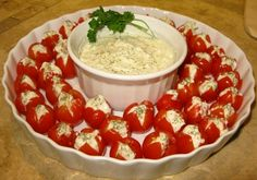 Gorgonzola Stuffed Cherry Tomatoes