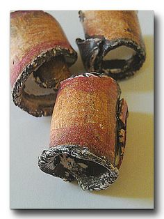 Bark Beads Polymer Beads Rustic Polymer Out Of by OutofTimeDesigns, $5.50