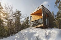 Cabin on a Rock in New Hampshire by I-Kanda Architects
