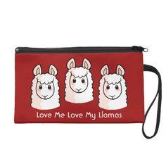 Love Me Love My Llama Wristlet