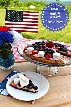 4th of july cookie pizza recipe