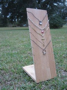 Wooden multiple necklace display ~ make your own