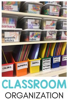 Special Education Classroom Organization Tips & Tricks Need cheap storage ideas for organizing all the things in your special education classroom? Learn how to be a more organized teacher with these tips and tricks! These classroom organization ideas will Classroom Organisation, Classroom Supplies, Autism Classroom, Special Education Classroom, Teacher Organization, Classroom Design, Organization Hacks, Classroom Management, Organized Teacher