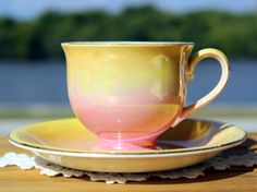 Royal Winton, Grimwades, Cup and Saucer, Antique English Tea, Sunrise Pattern