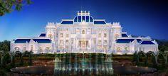 Huge Mansions, Mansions Homes, House Outside Design, Modern Villa Design, Dream Mansion, Bungalow House Design, Castle House, Modern Mansion, Luxury Homes Dream Houses
