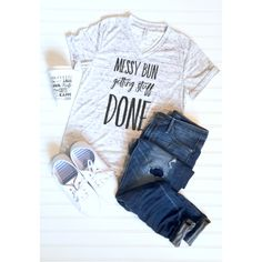 Messy Bun Getting Stuff Done Graphic Tee - Libby and Dot Collections